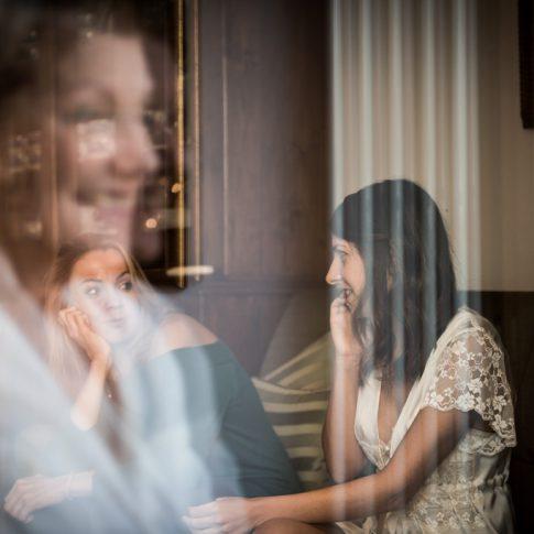riflesso nel vetro preparativi sposa