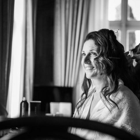 preparativi della sposa a Villa Poschi
