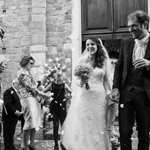 uscita degli sposi alla basilica di san piero a grado