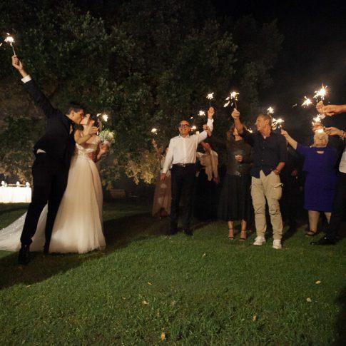 festeggiamenti in notturna all'agriturismo valliferone