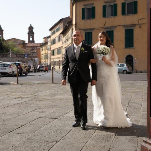 Arrivo della sposa alla chiesa di santa Caterina a Pisa
